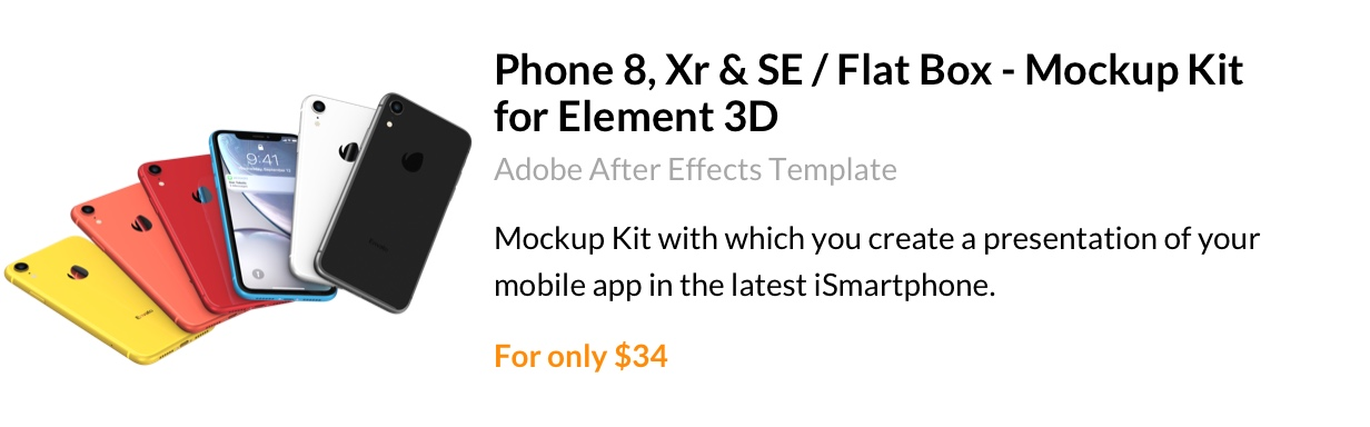 Promote your application on iPhone Xr 3D model