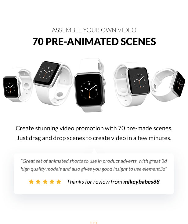 Create stunning video promotion with 70 pre-made scenes