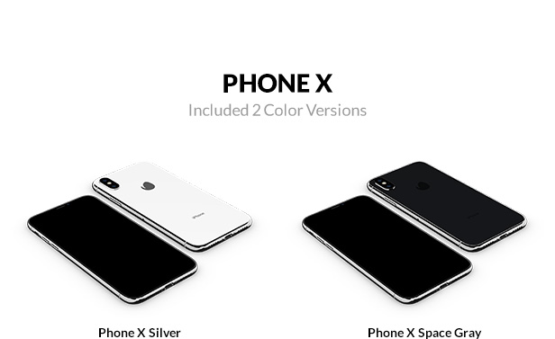 iPhone X 3D models with 2 color versions