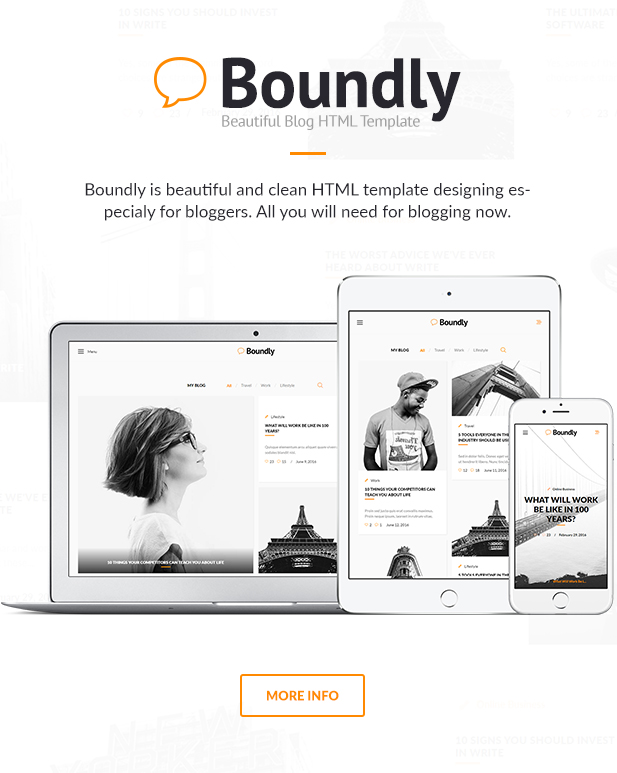 boundly html template