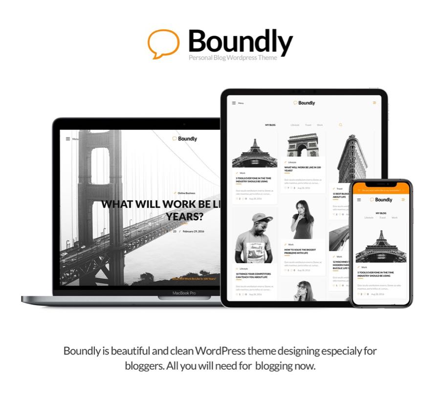 Boundly, WordPress Theme for Bloggers