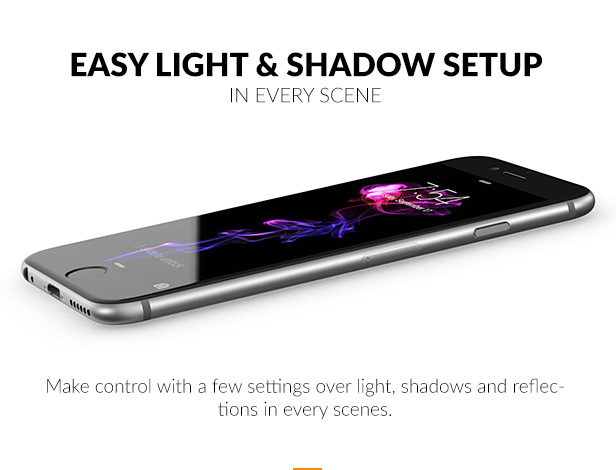 Make control with a few settings over light, shadows and reflections in every scenes.