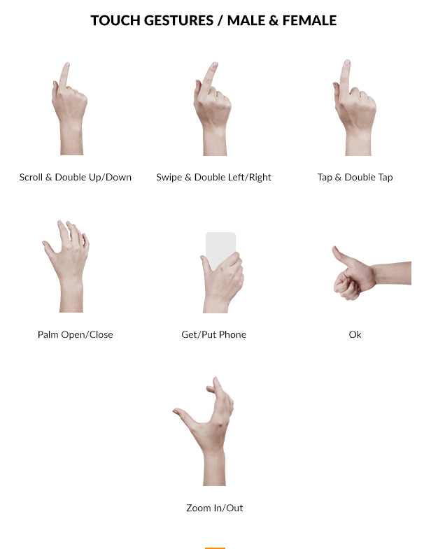 21 Touch gestures