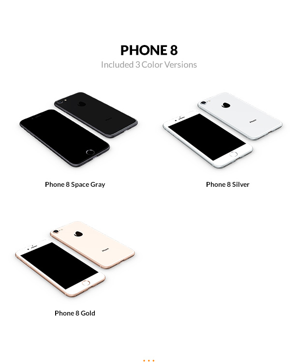 iphone 8 3D models