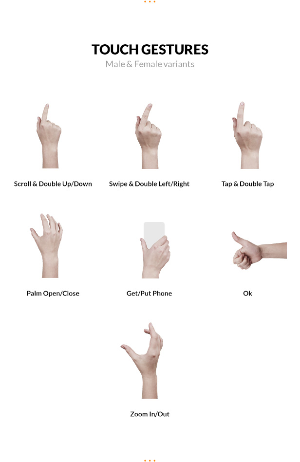 touch gestures included