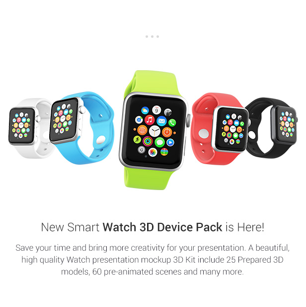 New watch 3D device pack from MakingCG